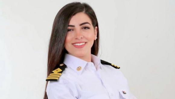 Marwa Elselehdar es la primera mujer en ser capitana de barco en Egipto. (MARWA ELSELEHDAR).