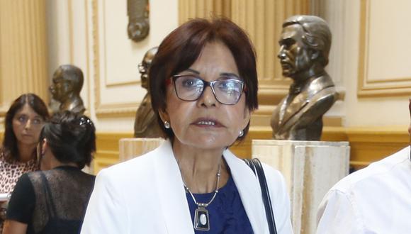 Mercedes Cabanillas admite que su partido está muy afectado tras las revelación de Luis Nava sobre Alan García y la denuncia contra Luciana León. (Foto archivo El Comercio)