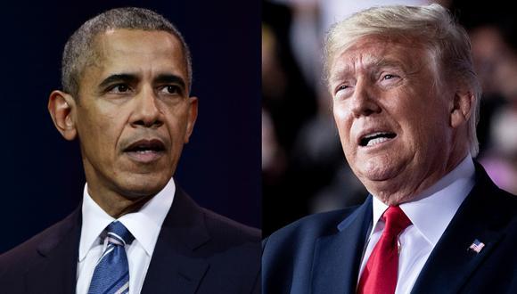 Barack Obama y Donald Trump empatan en el ranking de los hombres más admirados en Estados Unidos. Fotos: AFP