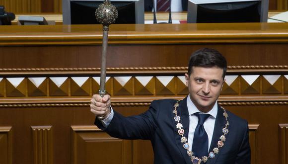Volodymyr Zelensky en una imagen del pasado 20 de mayo, cuando asumió la Presidencia de Ucrania. (AFP).