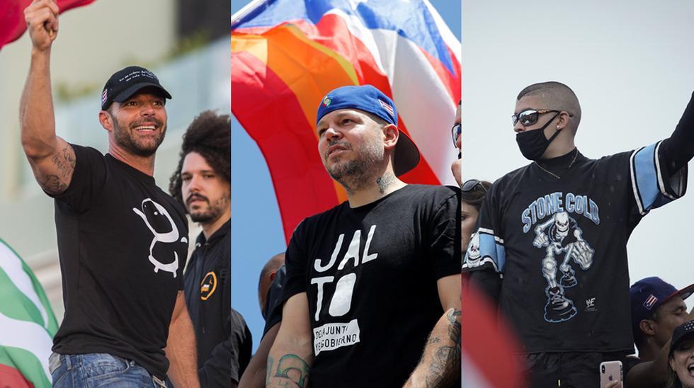 Artistas que apoyan la salida de Ricardo Roselló. (Foto: Agencia)