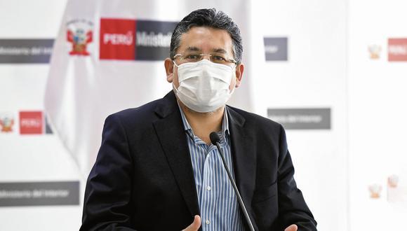 El exministro del Interior Rubén Vargas se pronunció sobre su decisión de pasar al retiro a 18 generales de la Policía. (Foto: Mininter)