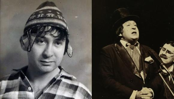 'Nemesio Chupaca', y 'Camotillo, el tinterillo', primeros personajes de Tulio Loza. (Fotos: Archivo personal de Tulio Loza)