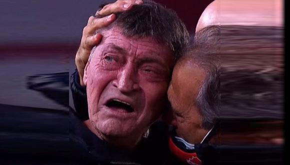 El emocionante festejo de Julio César Falcioni tras la clasificación de Independiente. (Captura: Fox Sports Premium)