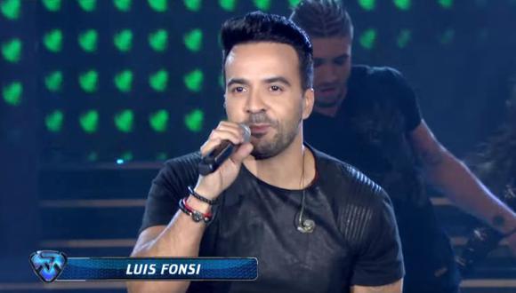 """Luis Fonsi cantó dos veces """"Despacito"""". (Captura: El Trece)"""