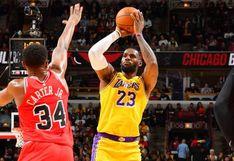 Los Ángeles Lakers le dieron vuelta y vencieron 118-112 a los Chicago Bulls por la NBA