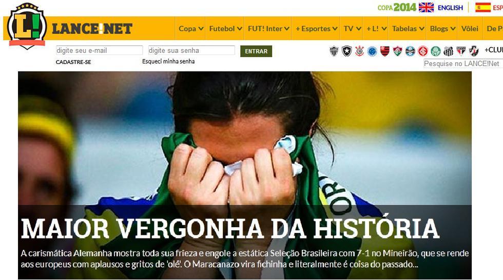 """Masacre en el Mineirao"": prensa brasileña consternada con 7-1 - 1"