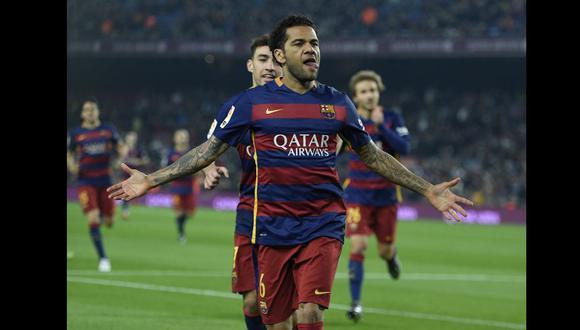 Dani Alves jugó ocho años en Barcelona. (Foto: AFP)