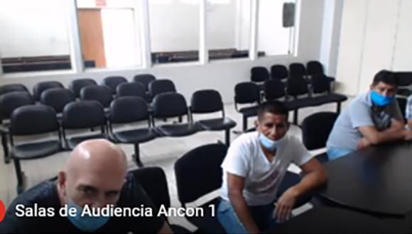 Zoran Jaksic en la sala de audiencias del penal de Piedras Gordas en Ancón escuchando el juicio oral. (Foto: Sala Penal Nacional)