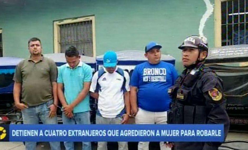 En Chiclayo, cuatro ciudadanos extranjeros fueron detenidos tras ser acusados de robo. (Captura: RPP Noticias)