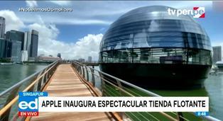 Apple inaugura ostentosa tienda flotante en Singapur