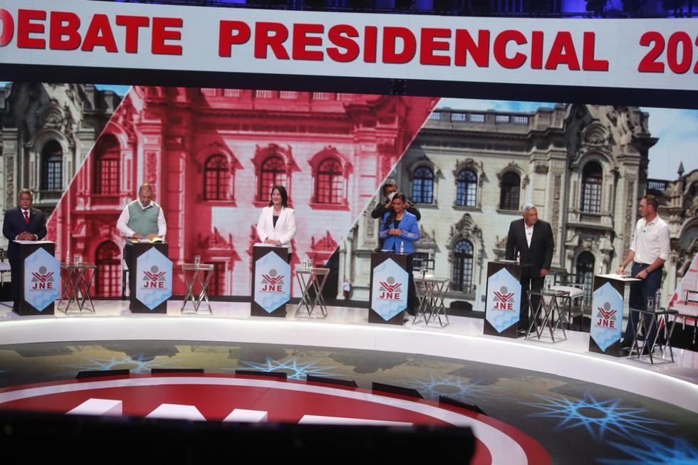 Debate presidencial organizado el 29 de marzo de 2021.