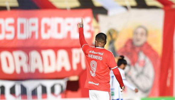 Internacional dedicó un mensaje a Paolo Guerrero después de confirmarse la lesión. (Foto: SC Internacional)
