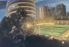 El video del momento en el que se derrumba el edificio Champlain Towers en Miami