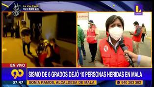 Mala: sismo de 6 grados dejó a 10 personas heridas