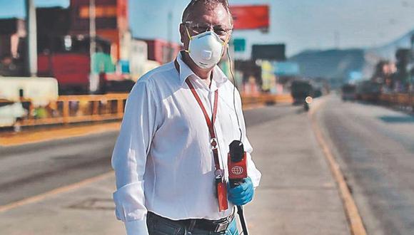 """Gunter Rave: """"Soy uno de los reporteros elegidos para las desgracias"""". FOTO: Lino Chipana / GEC."""