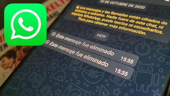 De esta forma podrás volver a ver los mensajes que han sido eliminados en WhatsApp. (Foto: Mag)