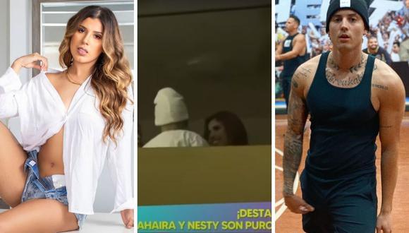 Yahaira Plasencia y Nesty fueron vistos muy cariñosos en una fiesta en un departamento ubicado en San Isidro. (Composición: captura Willax TV / Instagram)