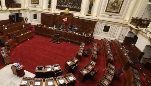El pleno del Parlamento aprobó en una breve sesión modificar cinco artículos de la Constitución referidos a la inmunidad de altos funcionarios del Estado. (Foto: Congreso)