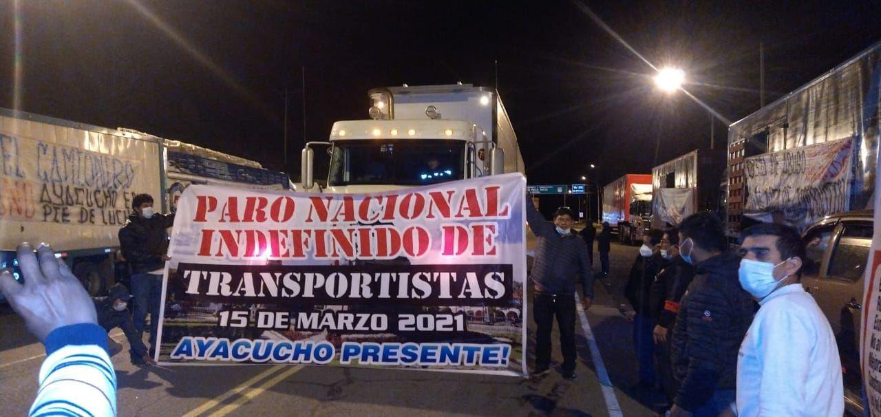 Paro nacional de transportistas inició hoy desde distintos puntos del país | FOTOS