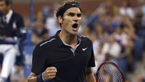 Federer venció 3-2 a Monfils y avanzó a semifinales del US Open