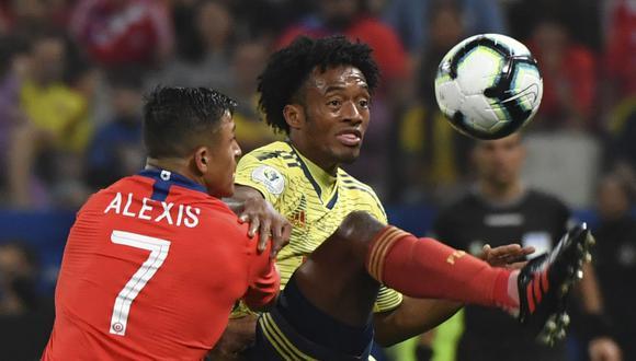 Colombia vs. Chile: Juan Guillermo Cuadrado y Alexis Sánchez apuntan a estar desde la partida en el compromiso. (AFP)