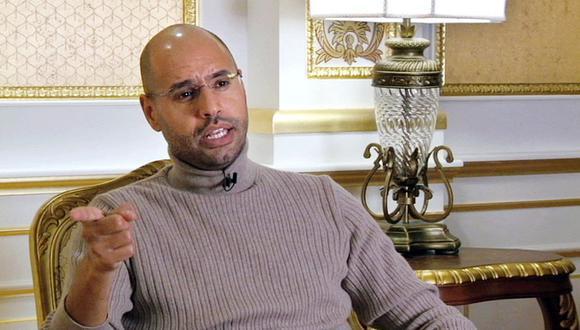 Saif al-Islam Gadafi ve con buenos ojos la posibilidad de postularse a la presidencia de Libia. (Foto de archivo: EURONEWS / AFP)