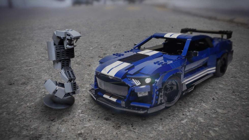 Los seguidores podrán votar por este kit del Ford Mustang Shelby GT500 para que Lego lo convierta en una realidad. (Fotos: Lego).