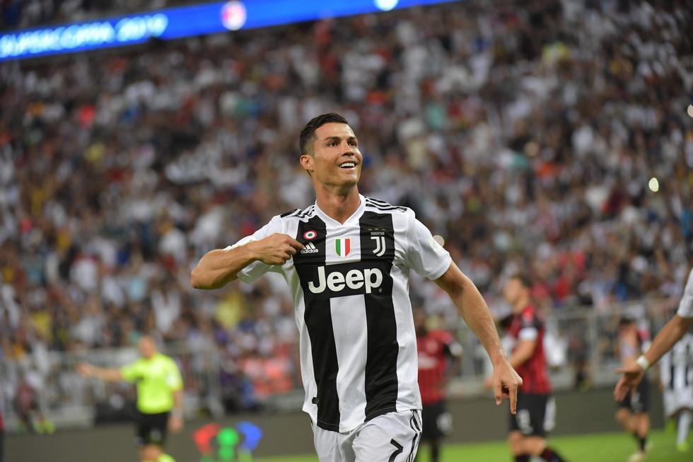 Juventus vs. Milan: así fue el gol de Cristiano Ronaldo para el 1-0 en la Supercopa de Italia. (Foto: AFP/Reuters)