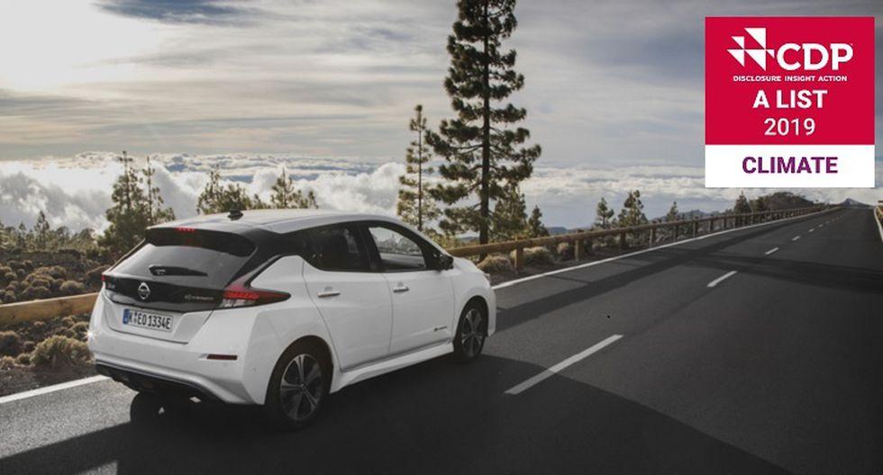 Nissan obtiene el reconocimiento de la CDP, que la incluyó en su 'Lista A' de compañías líderes en implementar acciones contra el cambio climático en 2019. Esto por su trabajo para la reducción de las emisiones de CO2, mitigar los riesgos climáticos y desarrollar una economía baja en carbono.