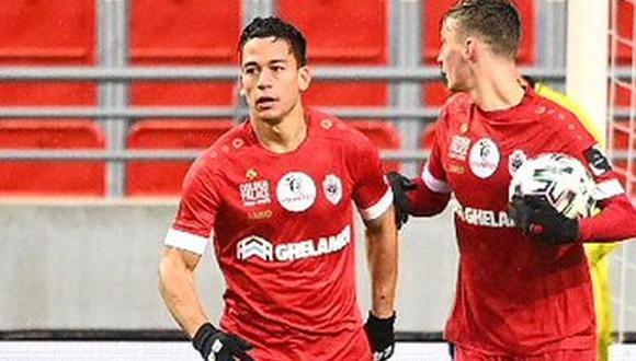 Cristian Benavente ya tiene dos goles con camiseta de Royal Antwerp. (Foto: Royal Antwerp)