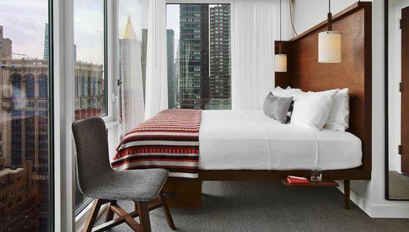 Las tarifas en los hoteles Moxy, de la marca Marriott, parten de 159 dólares la noche en Estados Unidos. (Foto: Difusión)