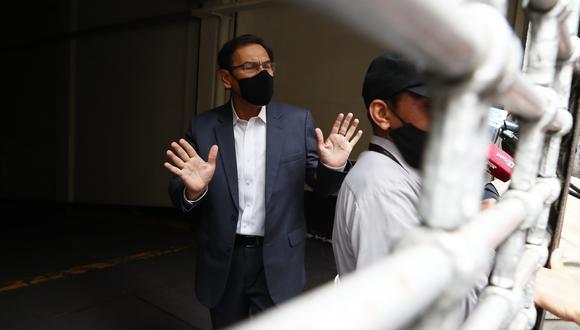 Martín Vizcarra afronta varias denuncias constitucionales en el Congreso por el 'Vacunagate' y corre el riesgo de ser inhabilitado para ejercer cualquier cargo público hasta por 10 años. (Foto: GEC)