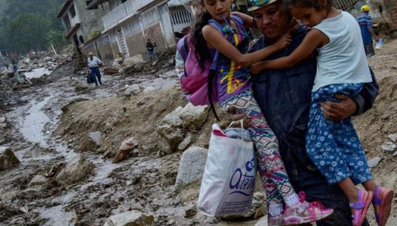 Venezuela busca a los desaparecidos en los deslaves en Mérida. (GETTY IMAGES).