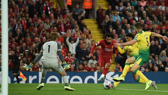 Liverpool vs. Norwich EN VIVO: Salah y una genial sutileza para el 2-0 'Red' en Premier League | VIDEO. (Foto: AFP)