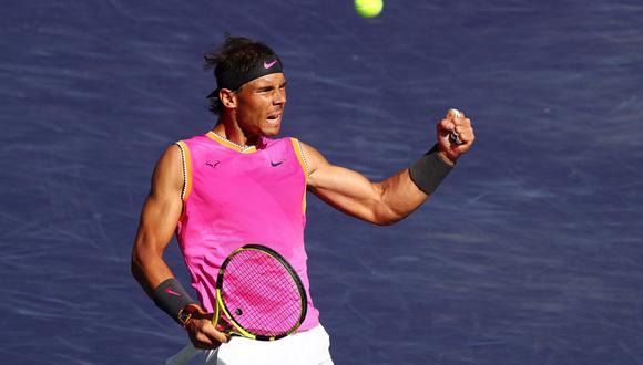 Rafael Nadal vs. Karen Khachanov se enfrentaron en un gran duelo por los cuartos de final del Indian Wells 2019. El español se llevó la victoria y ahora se medirá ante Roger Federer. (Foto: AFP).