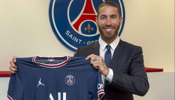 Sergio Ramos firmó contrato con PSG hasta el 2023. (Foto: PSG)