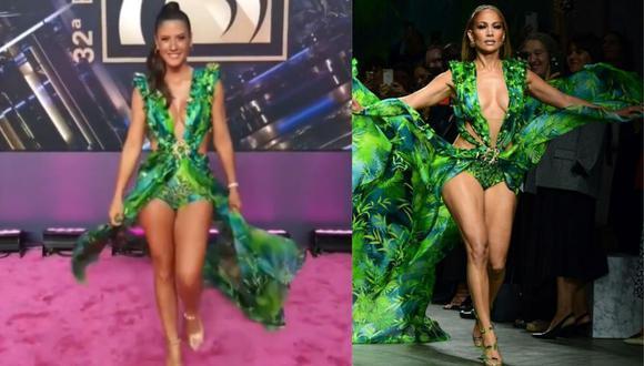 """María Pía Copello tras lucir el icónico vestido verde que Jennifer Lopez hizo famoso: """"Hay que ser osada, este cuerpo no lo voy a tener toda la vida"""" (Fotos: Instagram)"""