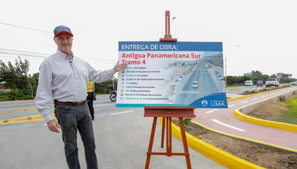 El alcalde de Lima, Jorge Muñoz, entregó el último lunes el cuarto tramo de la antigua Panamericana Sur. (Foto: Difusión)