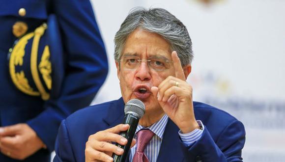 El presidente de Ecuador, Guillermo Lasso, habla durante la presentación del nuevo Plan de Vacunación 9/100 en Quito (Ecuador). (Foto: EFE/ José Jácome/archivo).