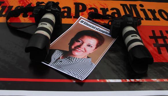 La periodista Miroslava Breach fue asesinada a tiros cuando salía de su casa en Chihuahua el 23 de marzo del 2017. (Foto: HERIKA MARTINEZ / AFP).