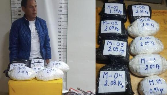 Cajamarca: PNP incautó pasta básica de cocaína, marihuana y látex de opio