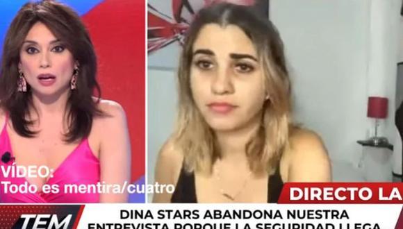 Protestas en Cuba: Dina Stars fue detenida en vivo mientras participaba en el programa Todo es Mentira, del canal Cuatro de España. (Foto: captura de YouTube).