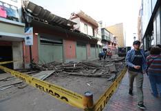 """Balcón derrumbado había sido """"recuperado"""" por la Municipalidad de Lima el año pasado"""