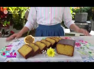 Tres minutos de dulzura: keke de maracuyá cubierta de chocolate