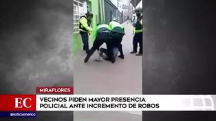 Miraflores: vecinos piden al municipio mayor seguridad tras ola de asaltos