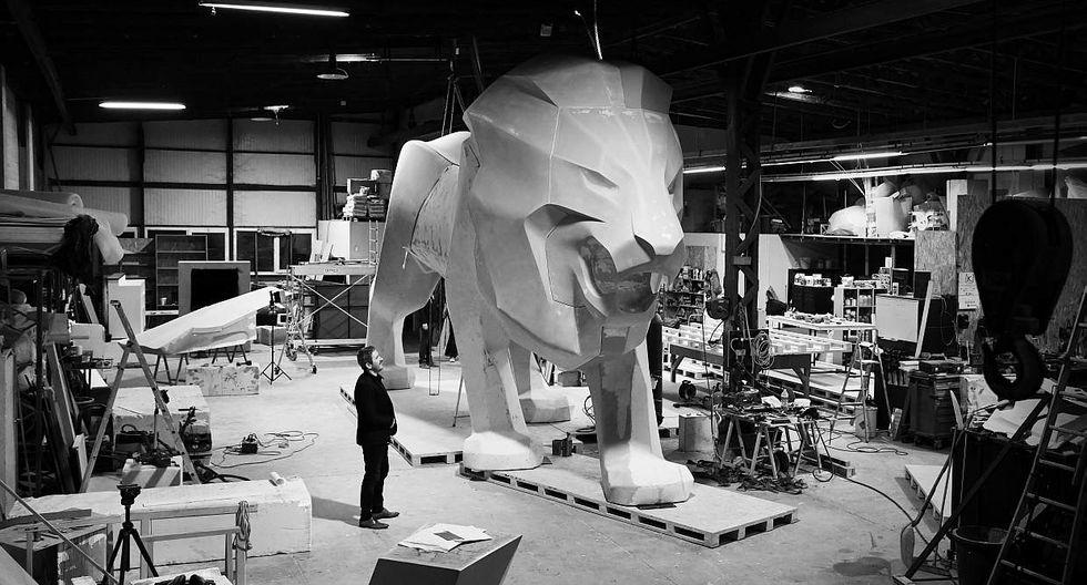 Esta escultura de 4,8 metros de alto y 12,5 de largo será exhibida durante la participación de Peugeot en el Salón de Ginebra 2018, que se inaugura el 8 de marzo. (Foto: Difusión)