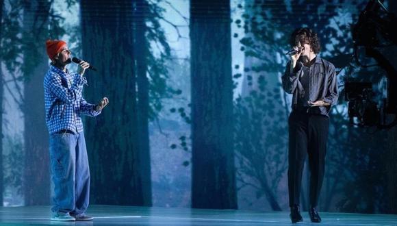 Justin Bieber y Shawn Mendes en los American Music Awards 2020. (Foto: @amas)