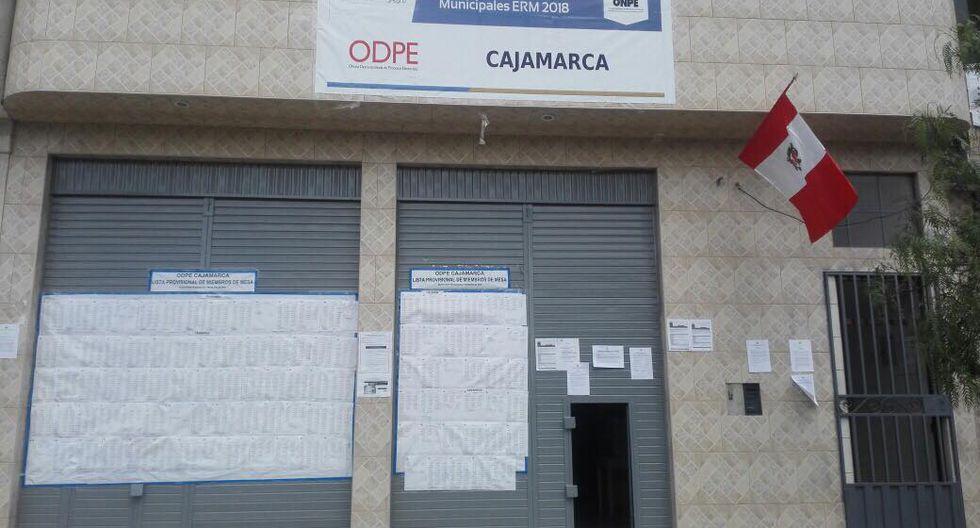 Cajamarca: roban laptops de la ODPE valorizadas en más de S/14 mil