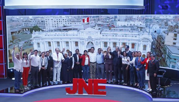 El último domingo se realizó el primer debate entre candidatos al Parlamento, organizado por el JNE. (Foto: Andina)